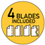 Includes blade styles: wavy, perforate and score/fold