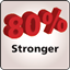 80 Percent Stronger