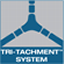 Tri-Tachment™ system eliminates the need for readjustment