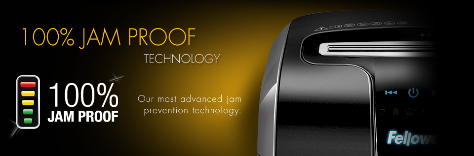Fellowes 100% Jam Proof Technology