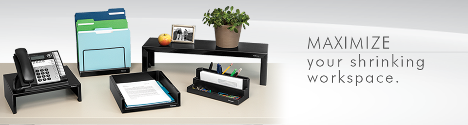 Mazimize Your Shrinking Workspace with Fellowes Desk Accessories