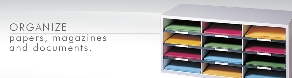 Organize papers, magazines and documents with Fellowes Literature Organizers