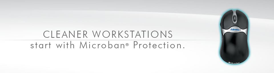 Cleaner Workstations start with Microban Protection