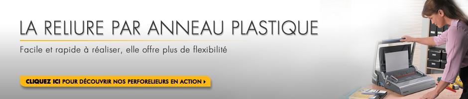Reilure Anneaux Plastique
