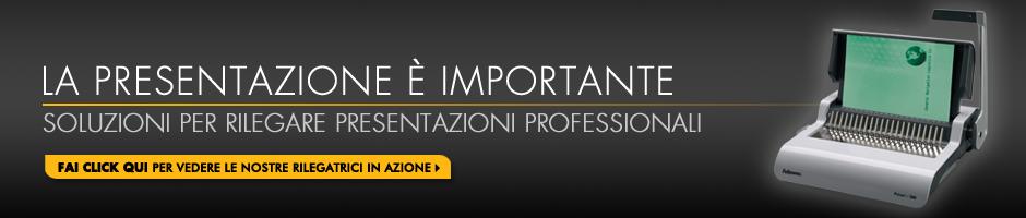 Soluzioni per rilegare presentazioni professionali