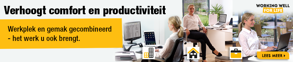 Office Wellbeing - Ergonomische werkplek oplossingen