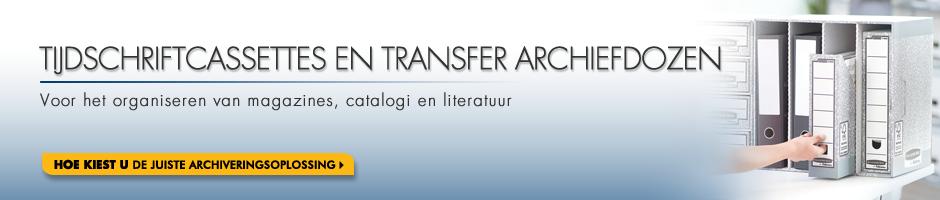 Bankers Box  Tijdschriftcassettes en transfer archiefdozen