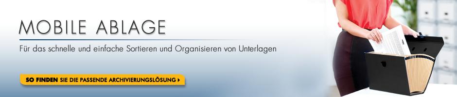 Mobile Ablage - Für das schnelle und einfache Sortieren und Organisieren von Unterlagen