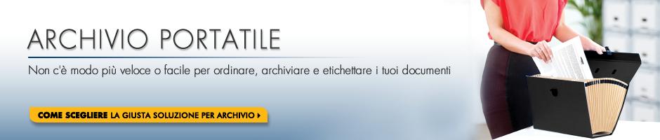 Archivio Portatile - Non c'è modo più veloce o facile per ordinare, archiviare e etichettare i tuoi documenti