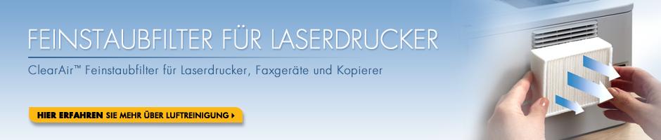 ClearAir Feinstaubfilter für Laserdrucker, Faxgeräte und Kopierer