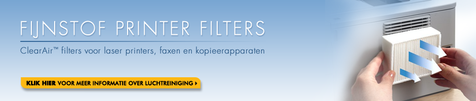 Fijnstof printer filters