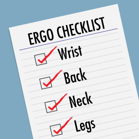Fellowes Ergonomics Check List