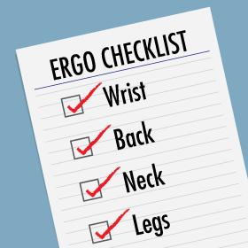 Fellowes Ergonomics Check List