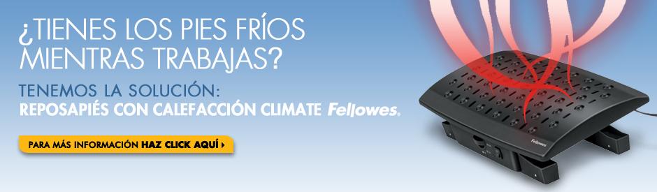 REPOSAPIÉS CON CALEFACCIÓN CLIMATE FELLOWES