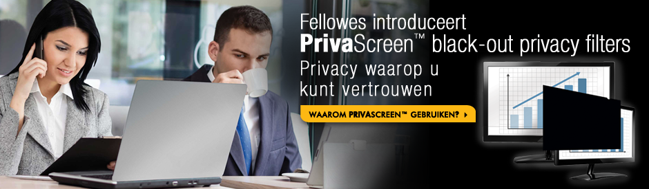 Fellowes Introduceert PrivaScreen Black-out Privacy Filters