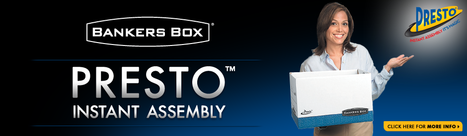 Bankers Box&#174; - Presto - Instant Assembly