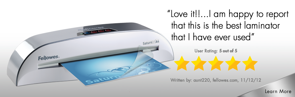 Fellowes Laminator Upgrade Offers