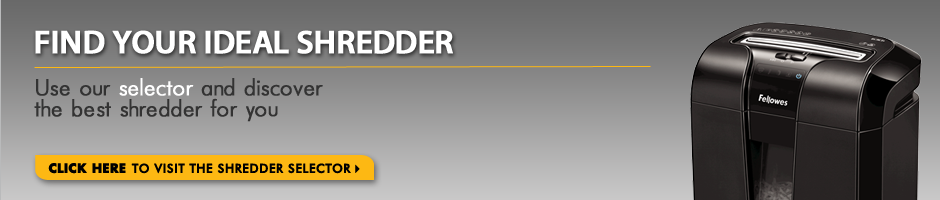 Find your ideal shredder with the Fellowes Shredder Selector
