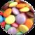 Alfombrilla para Ratón Circular Rígida Smarties__smarties_mousepad_58812_LH.png