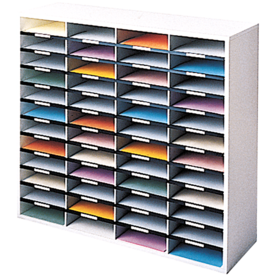 Literature Organizer - 36 Compartment, Letter, Dove Gray