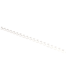 "Plastic Combs - Round Back, 1/4"", 20 sheets, White, 100 pk"