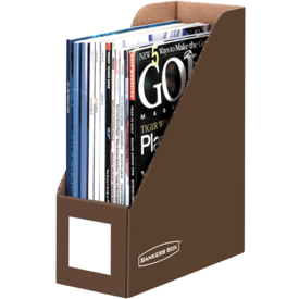 Bankers Box® Mocha Brown Magazine Files - Letter