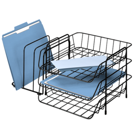 Wire Triple Tray with Sorter