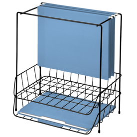Wire Double Tray with Hanging File