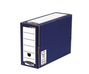 Boîte d'archives Bankers Box® PREMIUM bleue 127 mm__BB_PremTransFileBLUClosed_00059_LF.png