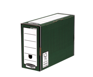 Bo&#238;te d'archives Bankers Box&#174; PREMIUM verte 127 mm__BB_PremTransFileGRNClosed_00060_LF.png