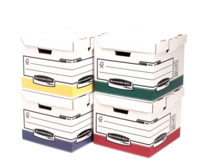 Cube pour archives flip top Bankers Box® System- assortiment de 4 coloris__BB_SystBlueFlipTopCubeAss_00397_G.png