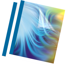 "Thermal Presentation Covers - 1/8"", 30 sheets, Blue"
