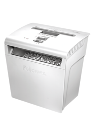 Powershred&#174; P-48C Cross-Cut Shredder - White__P-48C_3233201_HeroLeft_Shreds.png
