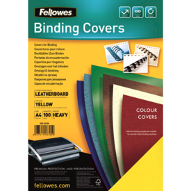 FSC Certified Leathergrain Covers - Yellow A4__leathergrain_front_53705.png