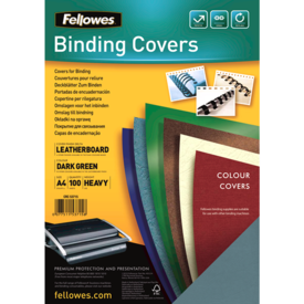 FSC Certified Leathergrain Covers - Dark Green A4__leathergrain_front_53715.png