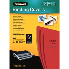 FSC Certified Leathergrain Covers - Red A4__leathergrain_front_53737.png