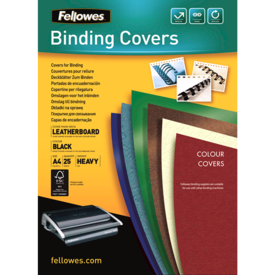 FSC Certified Leathergrain Covers - Black A4__leathergrain_front_53738.png
