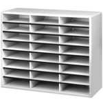 Literature Organizer - 24 Compartment, Letter, Dove Gray