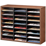 Literature Organizer - 24 Compartment, Letter, Medium Oak__25043_clear.png