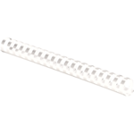 "Plastic Combs - Oval Back, 1-1/4"", 230 sheets, White, 50 pk"