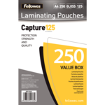 A4 Glossy 125 Micron Laminating Pouch - Value Pack__53149_125VB_A4_250.png