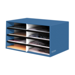 BANKERS BOX® Decorative 8 Compartment Literature Sorter, Letter, Cornflower Blue__61103.png