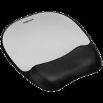 Memory foam Mouse Pad/Wrist Rest- Silver Streak