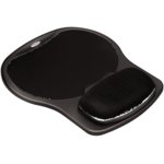 Easy Glide Gel Wrist Rest and Mouse Pad - Black