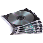 NEATO® Slim Jewel Cases - Clear/Black, 50 pack