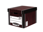 Bankers Box&#174; Premium 726 hoge opbergdoos - houtnerf__BB_PremTallStorageBoxWGClosed_72605_LF.png