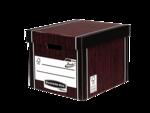 Grande caisse pour archives standard Bankers Box® Premium 726 coloris bois__BB_PremTallStorageBoxWGClosed_72605_LF.png