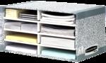 Bankers Box® System Schreibtischmanager - Grau__BB_SystGreySystDeskSorter_08750_LF.png