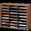 Literature Organizer - 24 Compartment, Letter, Medium Oak