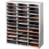 Literature Organizer - 36 Compartment, Letter, Dove Gray__25061_25071_clear.png